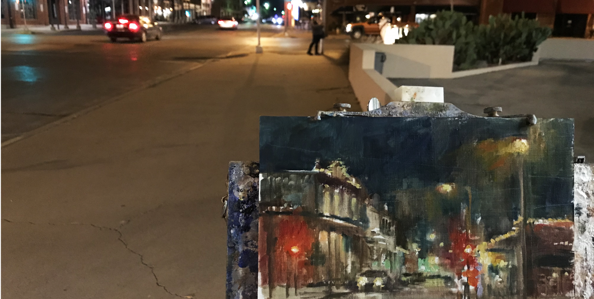 Christine Lashley, a nocturne on historic Concho Street