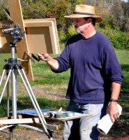lon at easel