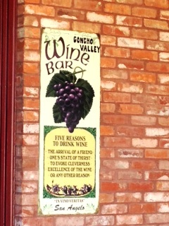 CONCHO VALLEY WINE BAR SIGN