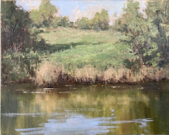 Diane Frossard River View at Tankersley House. #5 11x14. Oil $900