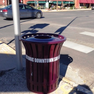 HISTORIC DOWNTOWN trash CAN