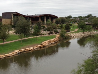 SAN ANGELO VISITORS CENTER RIVER SIDE VIEW