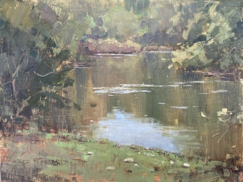 frossard,concho river on the xqz, oil, 6x8, 700